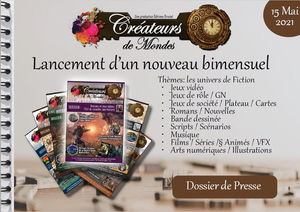 magazine les créateurs de mondes